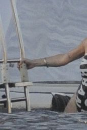 Lindsay Lohan in Swimsuit in Sardinia 7/30/2016