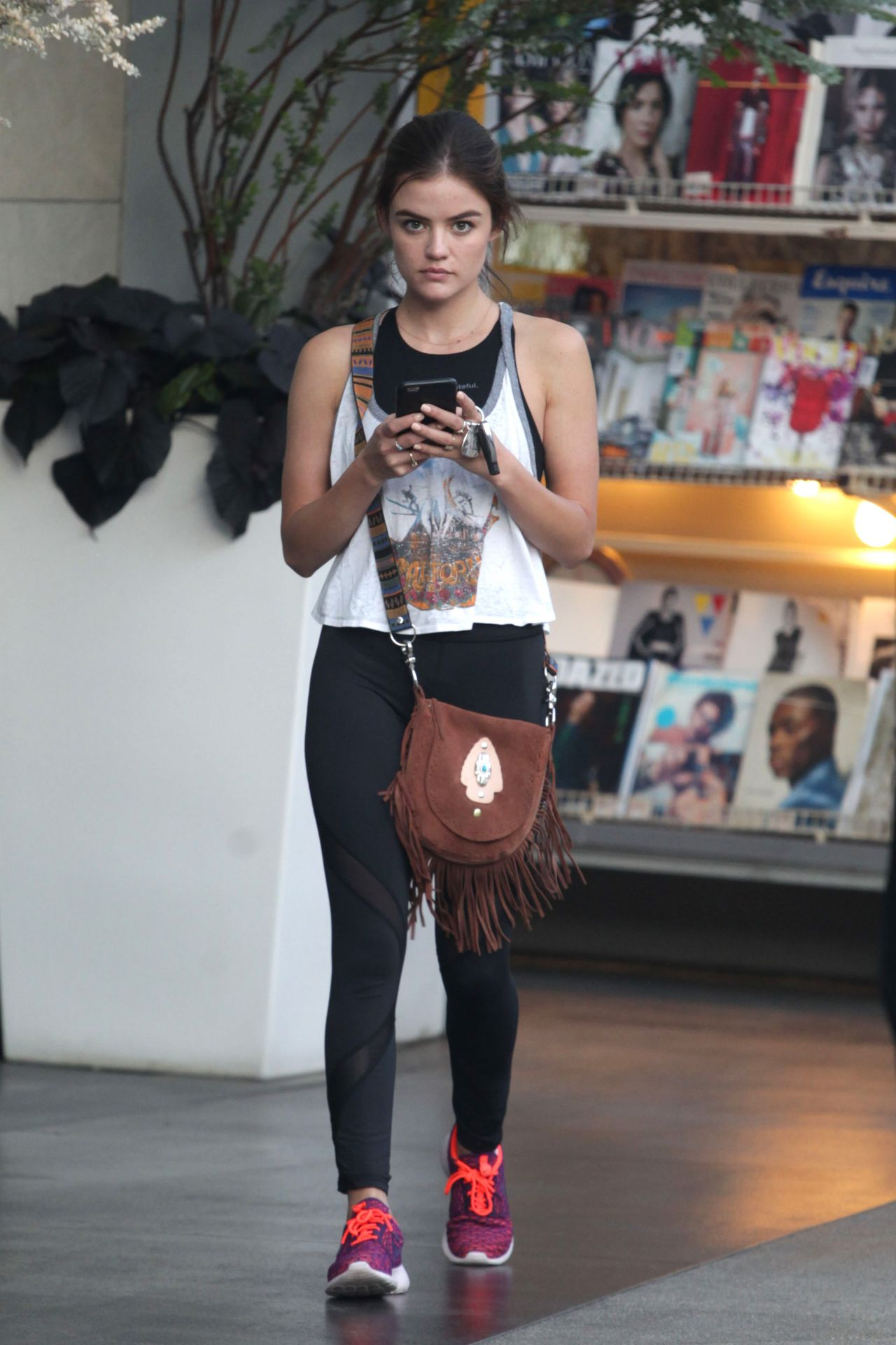 Lucy Hale At Soulcycle In West Hollywood August 2016