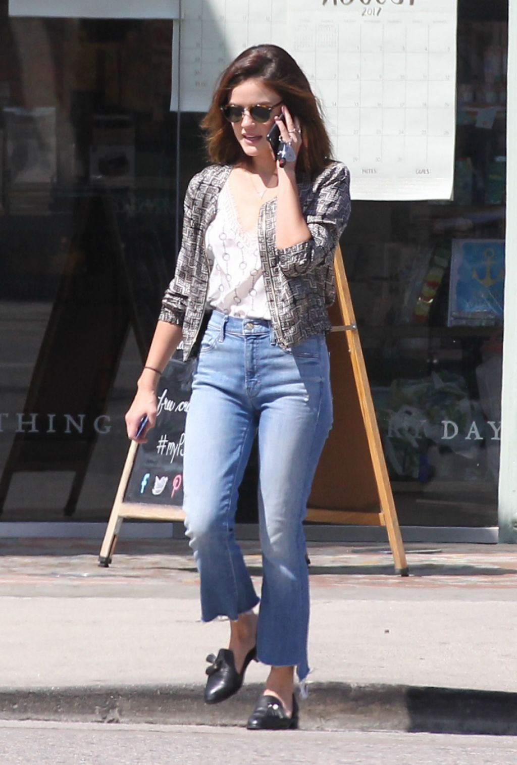 Lucy Hale in Jeans – Los Angeles 8/11/2016