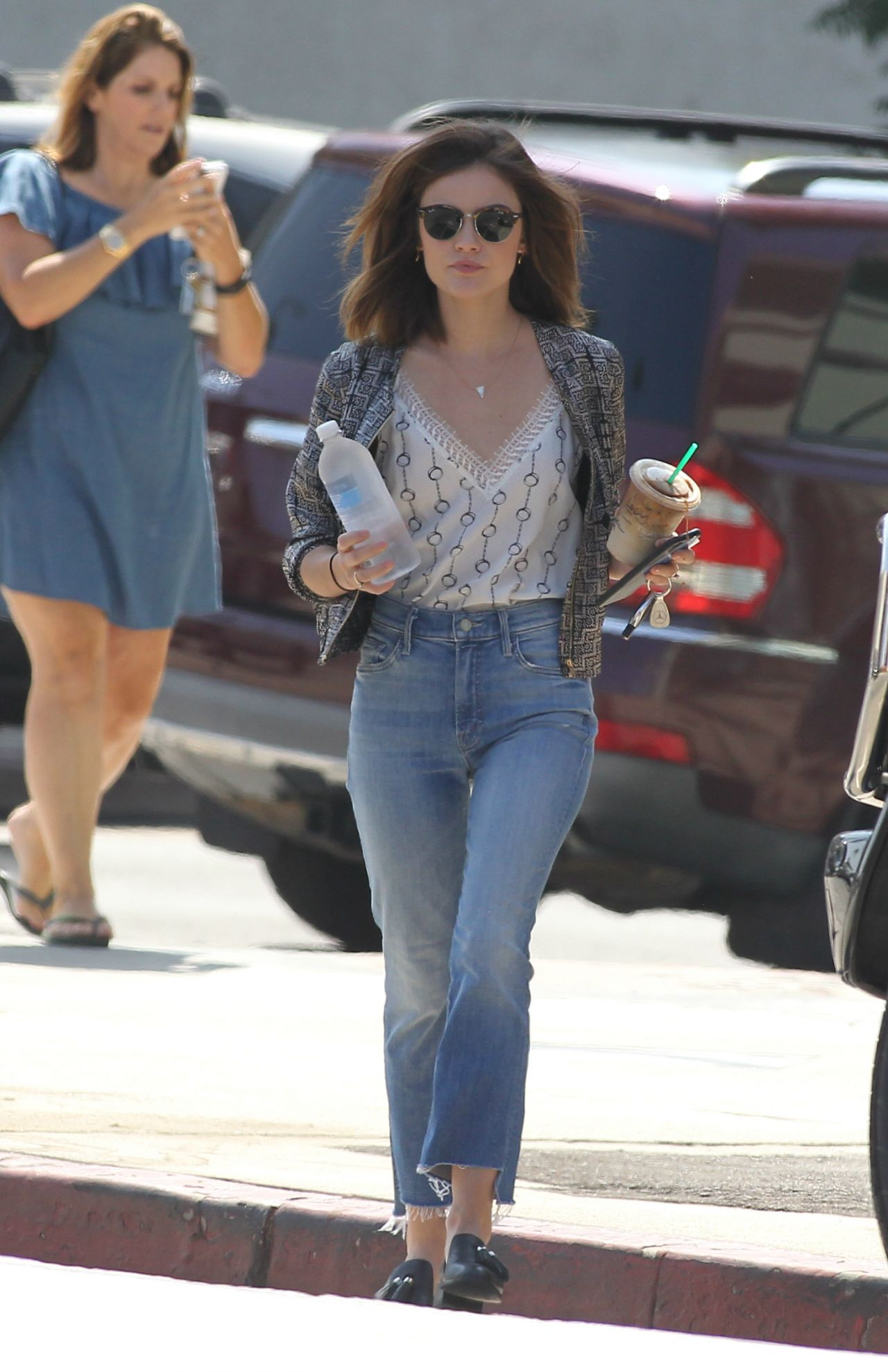 Lucy Hale in Jeans - Los Angeles 8/11/2016