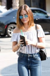 Lucy Hale Leaving Starbucks in Los Angeles 8/24/2016