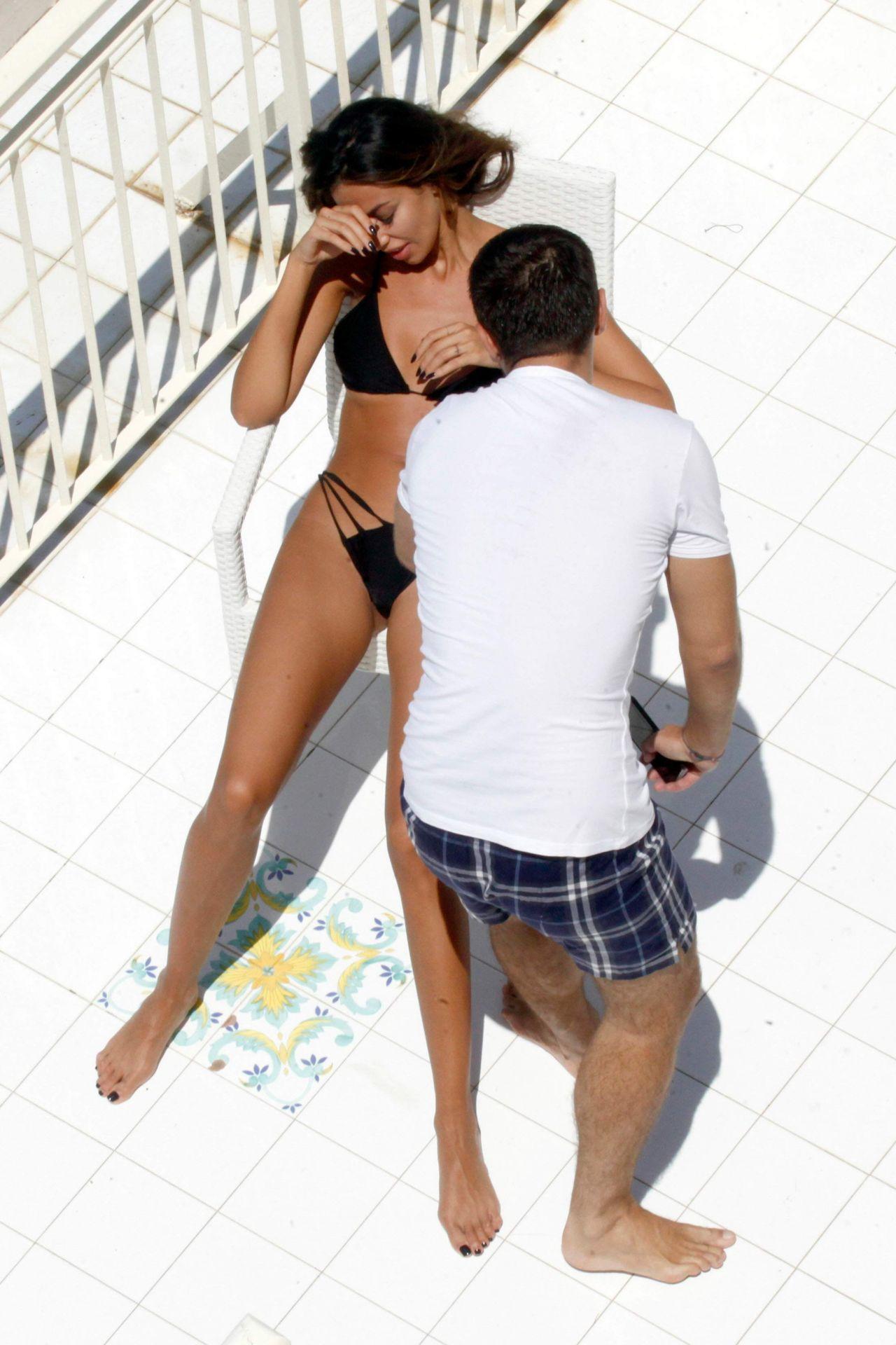 Madalina Ghenea Bikini Candids Amalfi Coast July 2016