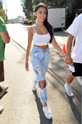 Madison Beer - Holds Hands With a Mystery Man at Just Jareds Party in Los Angeles 8/13/2016