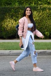 Madison Beer in Ripped Jeans - Leaving a House Party in Beverly Hills 8/29/2016