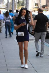 Mara Teigen Casual Style - Arrives for a Mani/Pedi at Nail Salon in Beverly Hills 8/4/2016
