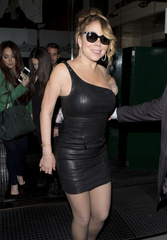 Mariah Carey Night Out Style - Leaving