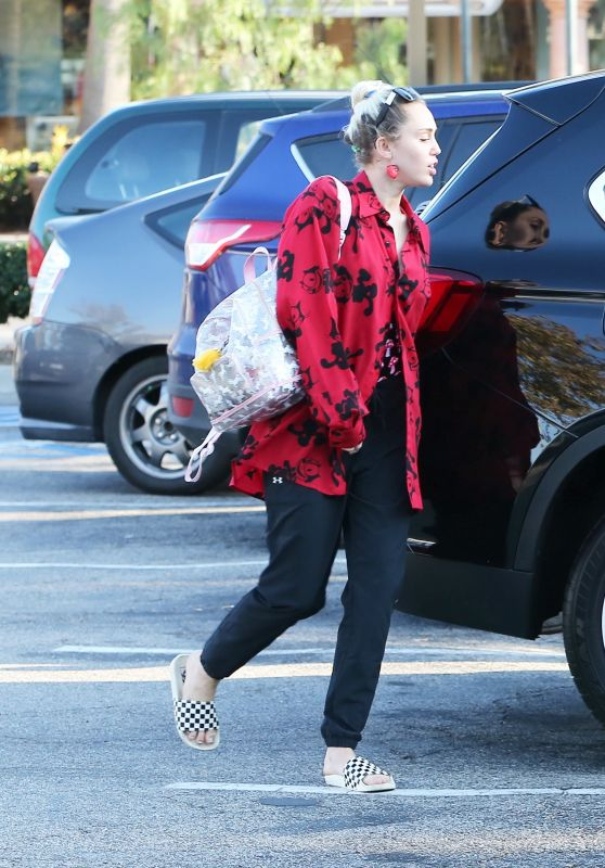 Miley Cyrus - Leaving Bui Sushi in Malibu, August 2016