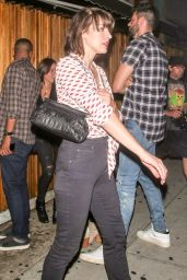 Milla Jovovich - Leaving The Nice Guy Nightclub in Hollywood 8/27/2016