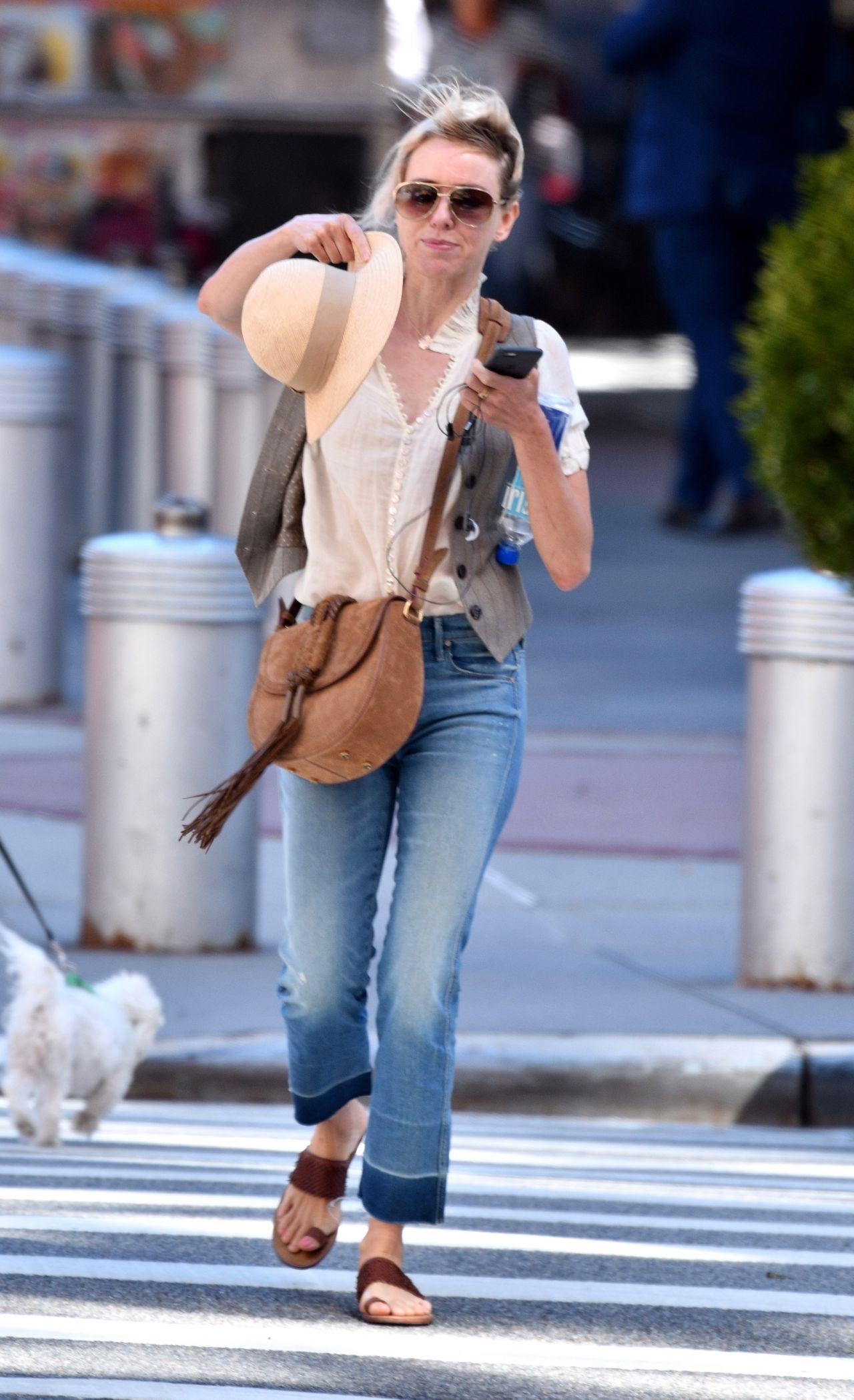 Naomi Watts Street Style – NYC 8/23/2016
