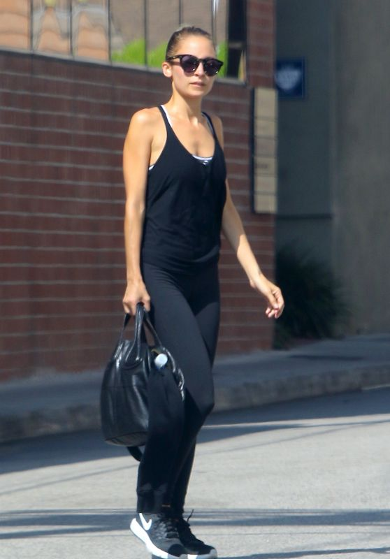 Nicole Richie - Arriving For Her Morning Workout in Studio City 8/11/2016