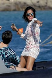 Nicole Scherzinger in Red Bikini On Yacht In Mykonos 08/02/2016