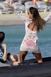 Nicole Scherzinger in Red Bikini On Yacht In Mykonos 08/02/2016