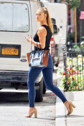 Nina Agdal Casual Style - NYC 8/18/2016