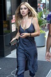 Olesya Rulin on the Set of