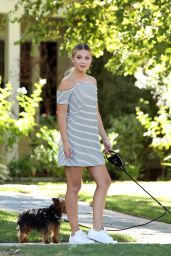 Olivia Holt - Walking Her Dogs in Los Angeles 8/18/2016