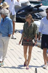 Olivia Palermo - Arriving at a Beach in Mykonos, Greece 8/11/2016
