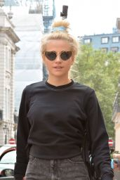 Pixie Lott - Arriving at the Hayemarket Theatre in London 8/13/2016