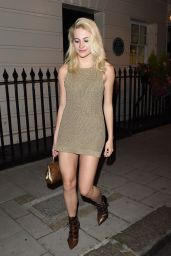 Pixie Lott in Mini Dress - Out in London 8/12/2016