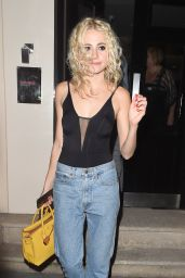 Pixie Lott - Leaving the Haymarket Hotel in London 08/18/2016