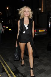 Pixie Lott - Leaving The Haymarket Theatre, London 8/20/2016