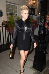 Pixie Lott Leaving The Haymarket Theatre - London 8/8/2016