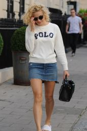 Pixie Lott Leggy in Mini Skirt - Out in London 08/06/2016