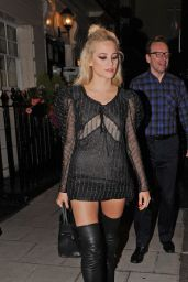 Pixie Lott Night Out Style - London 8/3/2016