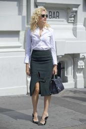 Pixie Lott Office Chic Outfit - Leaving Christopher