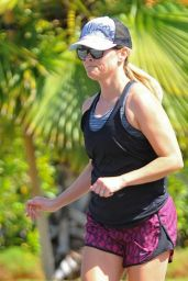 Reese Witherspoon in Shorts - Jogging in LA 8/21/2016