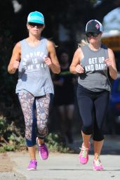 Reese Witherspoon - Jogging in Brentwood 8/30/2016
