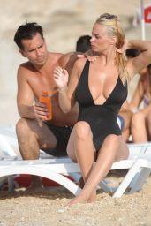 Rhian Sugden in Black Swimsuit - Beach in Turkey 8/18/2016