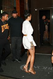 Rihanna Night Out Style - Outside Nobu in NYC 8/29/2016