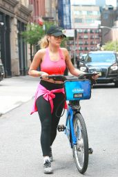 Rita Ora Bike riding - New York City 08/03/2016