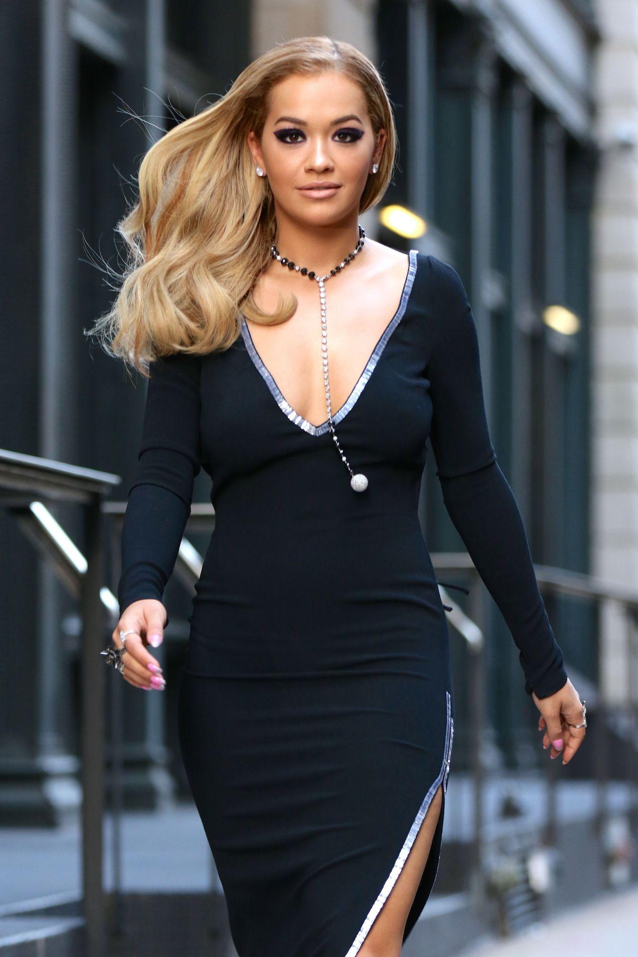 Rita Ora Classy Fashion - Filming For America's Next Top ...