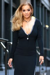 Rita Ora Classy Fashion - Filming For America