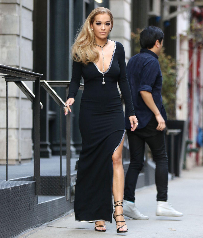 rita ora classy fashion  filming for america's next top