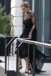 Rita Ora Classy Fashion - Out in New York 8/17/2016