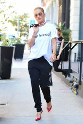 Rita Ora in Gosha Rubchinskiy - Leaving Her Hotel in NYC 8/22/2016