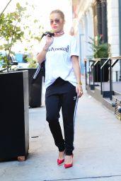 Rita Ora in Gosha Rubchinskiy - Leaving Her Hotel in NYC 8/22/2016