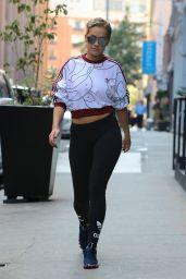 Rita Ora Wears H0er Workout Gear in Lout in New York 8/18/2016
