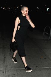 Rose McGowan - Departs the Bowery Hotel in New York City 8/29/2016
