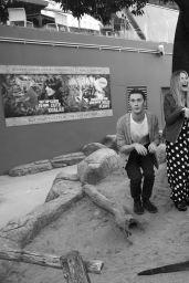 Sabrina Carpenter - Adam, Ash and the Wildlife Park in Sydney, August 2016