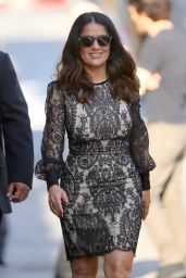 Salma Hayek Arriving to Appear on Jimmy Kimmel Live inLos Angeles, CA 8/2/2016