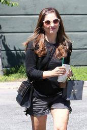 Sarah Michelle Gellar Leggy in Shorts - Shopping at Drybar in Beverly Hills, August 2016