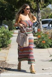 Sofía Vergara in Summer Dress - Visiting a Friend in Santa Monica, CA July 2016