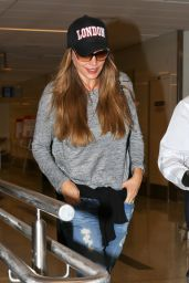 Sofia Vergara Travel Outfit - LAX Airport in Los Angeles 8/29/2016