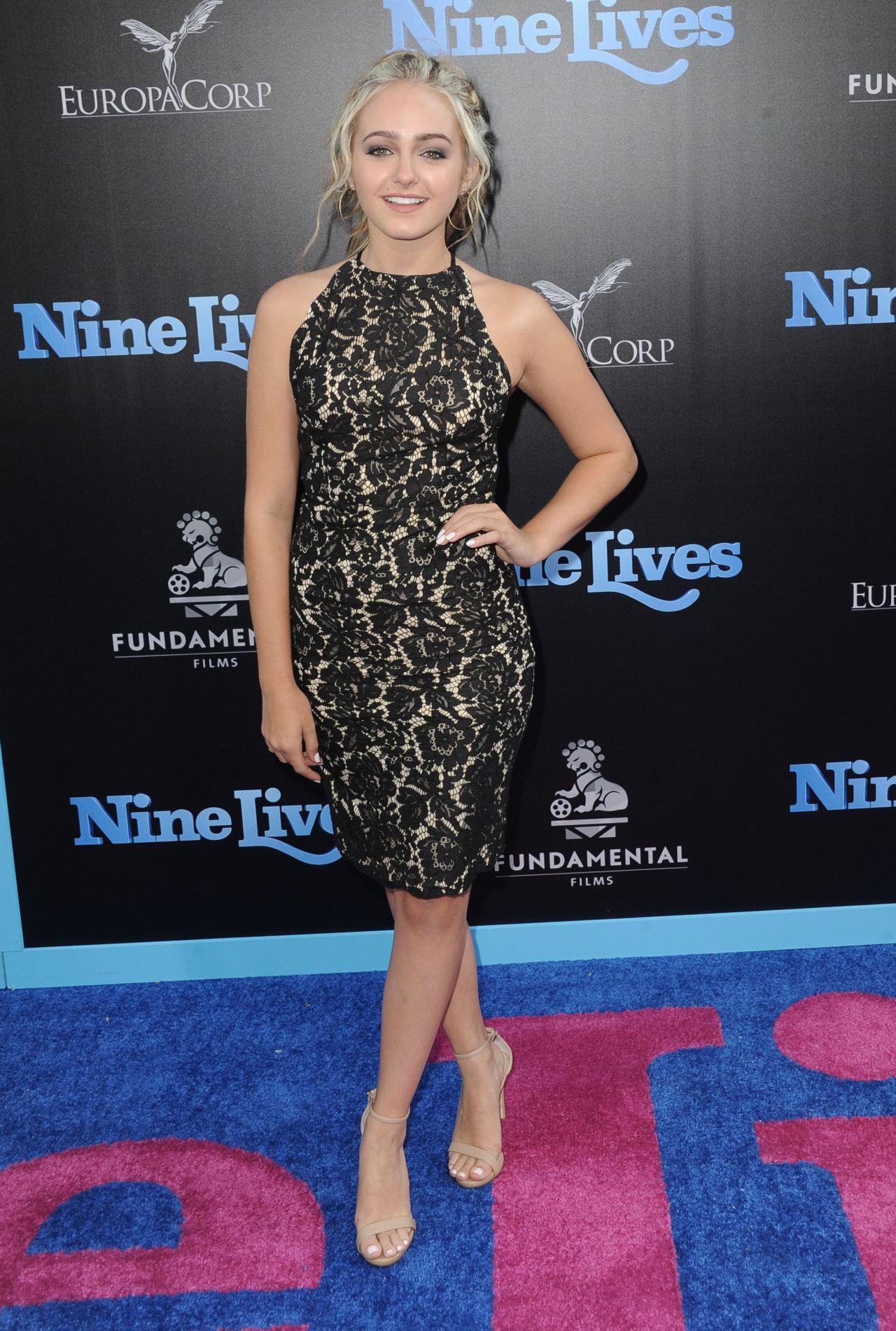 Sophie Reynolds Nine Lives Premiere In Hollywood 8 1 2016