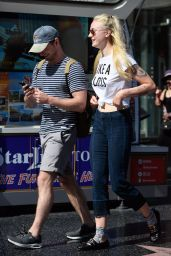 Sophie Turner Urban Outfit - Shopping in LA 8/23/2016