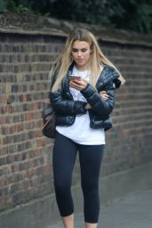 Tallia Storm in Leggings - Out in London 8/9/2016