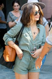 Vanessa Hudgens at A Salon in West Hollywood 8/25/2016